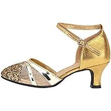 SPDYCESS Zapato de Baile Latino Mujer Zapatos de Lentejuelas Baile de Salón Sandalia de Salsa Performance