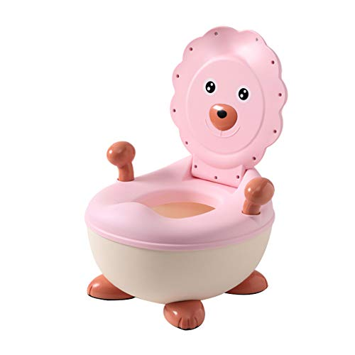 Apprentissage de la propreté Toilette pour Enfants Toilette pour Fille Toilette Enfant Enfant Bébé 1-3-6 Ans Fille Potty Mâle Urinoir Doux Super Confortable (Couleur : Pink)