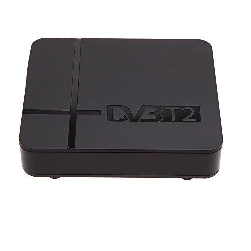 Andoer DVB-T2 Receiver, K2,Full HD, 1080p, digitales Antennenfernsehen, Set-Top-Box mit Full-Multimedia-Player H.264/MPEG-2/4,Kompatibel mit DVB-T, mit Kfz-Ladegerät zur Verwendung im Auto
