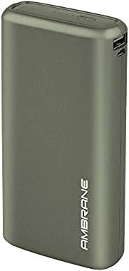 Ambrane 20000mAh Li-Polymer Powerbank with Fast Charging & Compact Size (Neos, Midnight Gr