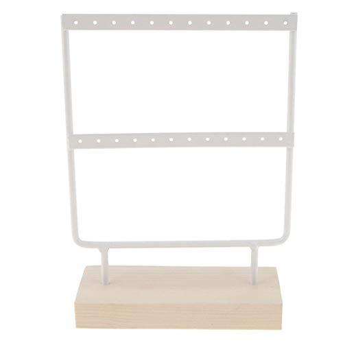 i® Holz Basis Metall Schmuck Halter Display Stand baumeln Ohrringe hängen 24 Löcher Schmuck Schmuckzubehör Aufbewahrung Schmuckkästen ()