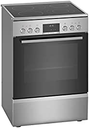 Bosch 60 X 60 cm, 4 Cooking Zone Free Standing Ceramic Electric Cooker, Silver - HKS59A20M, 1 Year Warranty