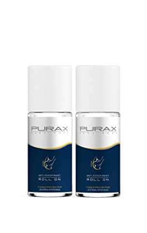 Purax Double Pack Antitranspirant Roll-On Extra Strong 50ml - 7 days protection, 2er Pack (2 x 50 ml)