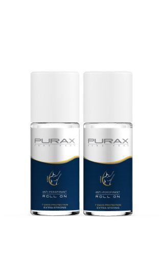 50-ml-pack (Purax Double Pack Antitranspirant Roll-On Extra Strong 50ml - 7 days protection, 2er Pack (2 x 50 ml))