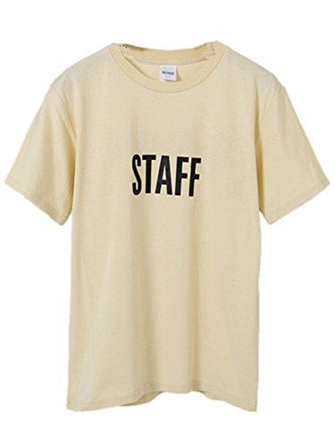 BOMOVO Herren STAFF Mit kurzem Ärmel, Rundhalsbund. T-Shirt aus 100% ringgesponnener Baumwolle Beige