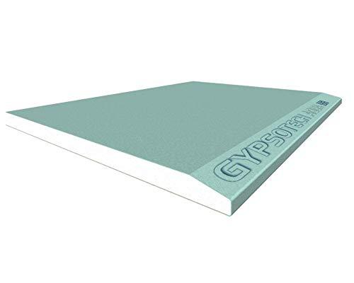 Gipskartonplatte grün feuchtigkeitsbeständig AQUA Stärke 13 mm Größe 120 x 200/300 cm für Feuchträume - 120 x 200 cm 120 x 200 cm (mq.2,40 pro Glas)