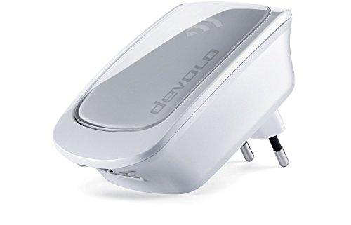 Devolo WiFi Repeater AC (1Port Gigabit Ethernet, WPS, Repeater WiFi, Verstärker WiFi, erhöht Reichweite des WiFi, Anzeige der Intensität des Signals) weiß weiß 500