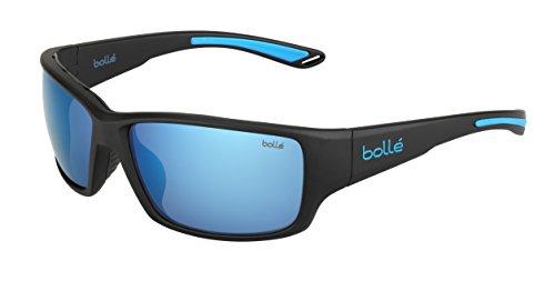 bollé Erwachsene Kayman Sonnenbrille, Matt Black Blue, Medium