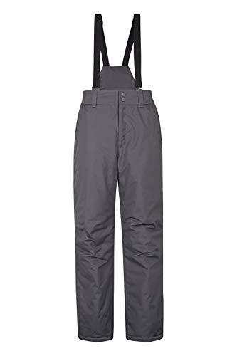Mountain Warehouse Dusk Skihose für Herren - Winterhose mit Zwei Taschen, Wasserfeste Herrenhose mit Elastikbund - Ideal zum Snowboarden Dunkelgrau Small
