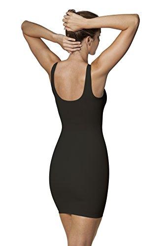 Sleex Figurformendes Miederkleid (mit breiten Traegern) Schwarz (Black)