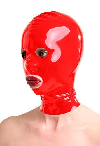 Anita Berg - Maschera in 100% lattice, taglia M, colore: rosso, 74 g