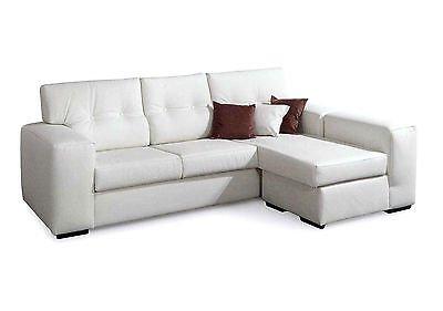 Esteamobili divano angolare eco pelle 4 posti moderno salotto vari colori prodotto italiano