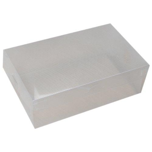 6x Faltbare Kunststoff Schuh Box - transparent