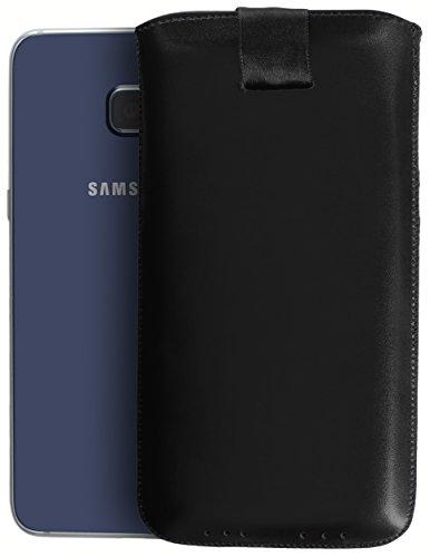 mumbi ECHT Ledertasche Samsung Galaxy S6 Edge+ Tasche Leder Etui (Lasche mit Rückzugfunktion Ausziehhilfe)