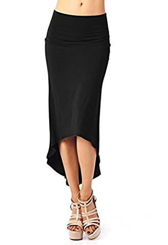 Damen Frauen Elegant Unregelmäßig Pakethüfte Business Rock Hohe Taille Vintage Pencil Knielang Bleistiftrock Rockkleid Abendrock