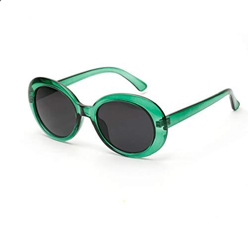 Retro Ovale Sonnenbrille - UV400 Schutzbrillen für Damen & Herren, Bluelucon Runde Rahmen Hoch Steg...