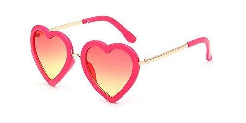 DaoRier Herren Sonnenbrille rot rosarot Einheitsgröße