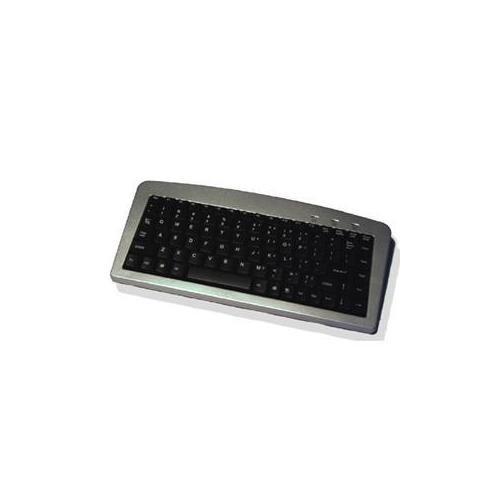 akb901-Adesso USB Mini Tastatur USB, PS/2-88Tasten-Silber, schwarz -
