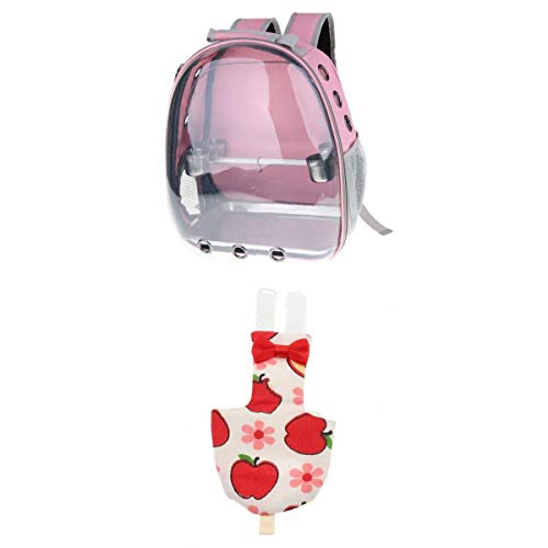 LOVIVER Parrot Pink Carrier Capsule Perchero De Pie