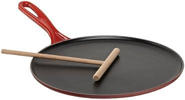 Le Creuset Padella per Crepes, Ghisa, Rosso Ciliegia, Diametro 27 cm