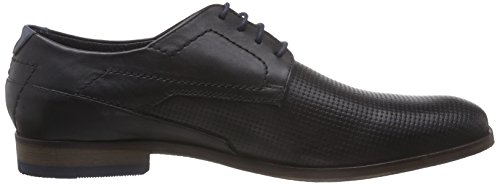 Bugatti 312107021010, Derby Homme Noir (schwarz /blau 1040)