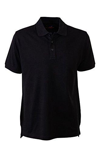 Pierre Cardin Mens Neue Saison klassische Passform Premium Polo T-Shirt aus Baumwolle (3X-Groß, Schwarz) (3x T-shirt Großes)
