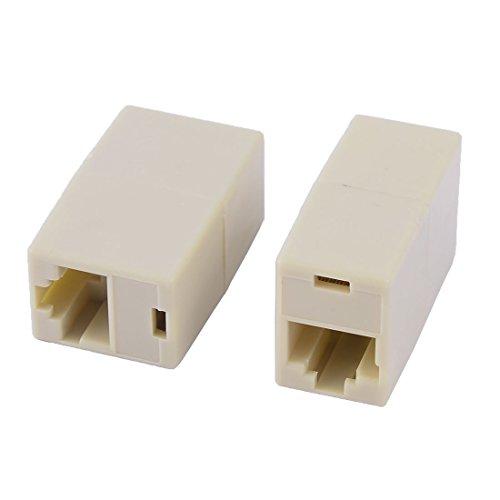 sourcingmap® RJ11 4P4C Keystone 2 Anschluss Netzwerkkabel Stecker Koppleranschluss Adapter (Rj11-kompaktes Design)