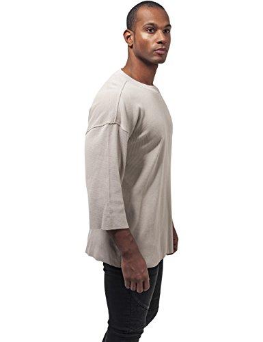 Urban Classic Herren T-Shirt Thermal Boxy Tee Elfenbein (sand 208)
