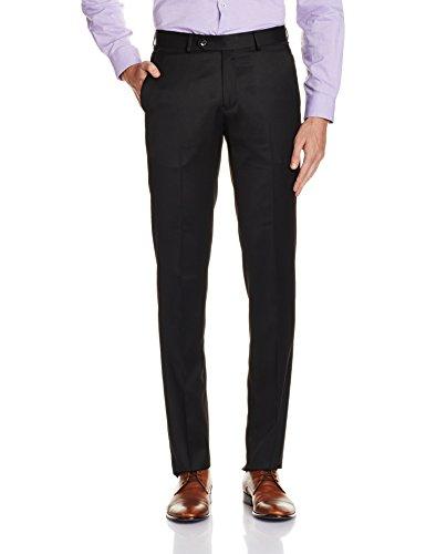Louis Philippe Mens Formal Trousers (8907545131560_LPTF516M01935_30W x 30L_Black)