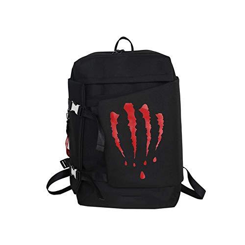 Wanderrucksack Camping Daypack Tasche mit Solar Power Board und Laptop Rucksack für Laptop mit USB-Ladeanschluss Abwehrend Schule Reisen Casual Daypack Reisen Laptop Slim Lightweight Bag Gr. 42, rot