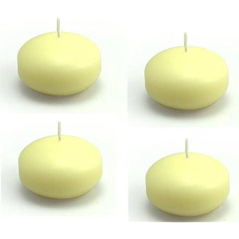 Ronda paperbaker velas flotantes 38 mm 4/Pack - Marfil