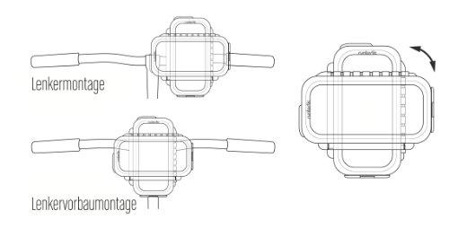 Runtastic Custodia Protettiva per Bicicletta per iPhone 4/4S/5, Bianco Nero
