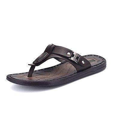 Athletic Shoes Primavera Autunno Coppia Scarpe da uomo Tulle casuale Tallone piano Nero / Blu Nero / Bianco R sandali US8.5-9 / EU41 / UK7.5-8 / CN42