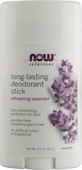Solutions, Long-Lasting Stick Déodorant, Rafraîchissant Lavender - Now Foods