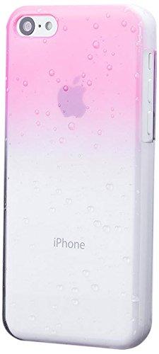 iCues Apple iPhone 5C |  Wassertropfen Case Schwarz | [Display Schutzfolie Inklusive] Transparent Klarsichthülle Durchsichtig Klare Klarsicht Schutzhülle Hülle Cover Schutz Rosa