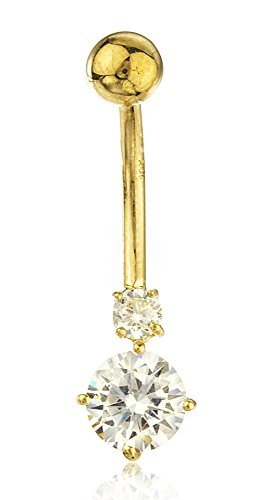real-10k-yellow-gold-cubic-zirconia-simple-belly-button-ring-by-jotw