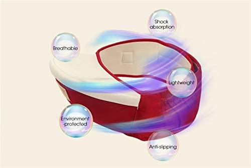 Verstellbare Ergonomische Mobile (Baby Lieferungen Baby-Hüftsitztrage Verstellbare Leichte Ergonomische Hocker-Babytrage Mit Mehreren Positionen Für Kleinkinder Krankenpflege (Color : RED WINE))