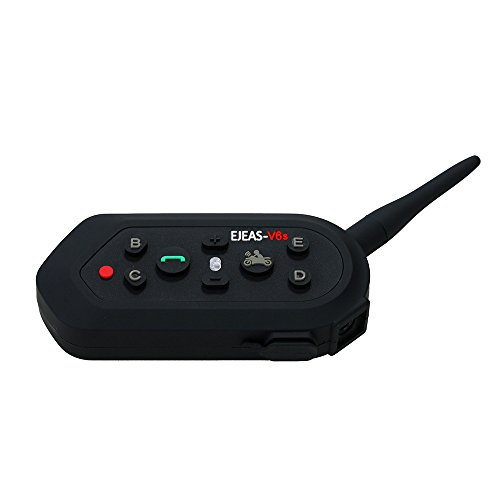 IDEAPRO E61300M resistente all' acqua moto casco interfono Bluetooth Auricolari Coppia 6Rider per MP3GPS Bluetooth 3.0Interphone fino a 10ore Tempo di conversazione