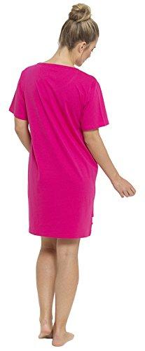 Lora Dora Nuisette forme T-shirt avec inscription 100% coton Taille 36-50 Pink - Varsity