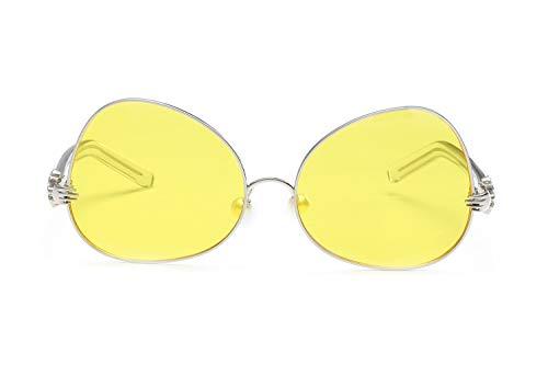 ZJWZ Metal-Frame HD Ocean Film Fashion Männer und Frauen Sonnenbrillen Pearl Nose Pad Fashion Sonnenbrille,NO5