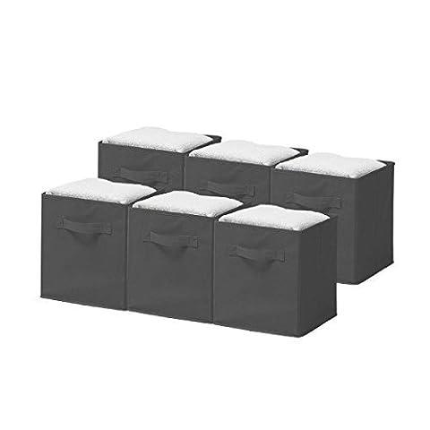 Sorbus Foldable Storage Cube Basket Bin (6 Pack)