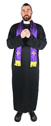 Dress Fancy Kostüm Xxl - ILOVEFANCYDRESS I Love Fancy Dress ILFD4566XXL Herren Priester-Kostüm, Gr. XXL