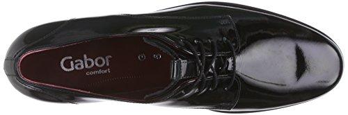 Gabor Comfort Sport 32.655, Derby Femme Noir (schwarz Fu rot 87)