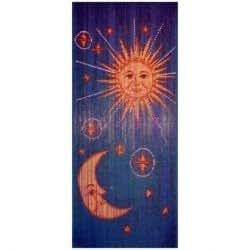 Rideau de Porte - Bambou Soleil, Lune & Etoiles