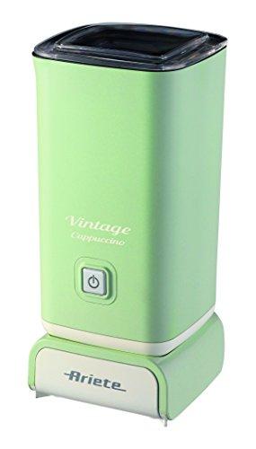 Ariete 2878 Vintage Schiumatore -Montalatte per cappuccino, tè, cioccolata calda e fredda, infusi liofilizzati, 500 watt, Verde/Beige
