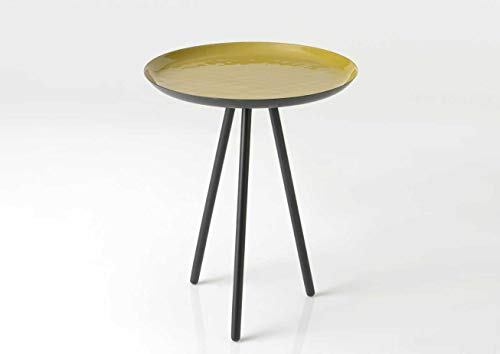 Amadeus Table Bout de canapé Moutarde, Collection Korb