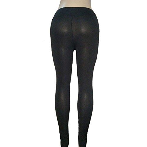 Topgrowth Pantaloni da Yoga Donne Alta Vita Leggings Yoga Fitness Palestra Pantaloni Trasparenti Sportivi Stretch Casuale Jogging Trouser Nero