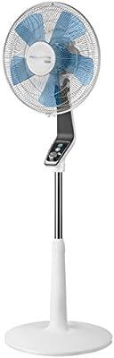 Rowenta Turbo Silence VU5640 - Ventilador de pie, 40 cm, 4 velocidades, color blanco
