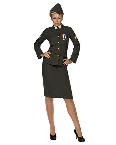 Horror-Shop Sexy Soldatin Kostüm Plus Size XL 48-50