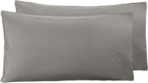 AmazonBasics - Funda de almohada de microfibra, 2 unidades, 50 x 80...